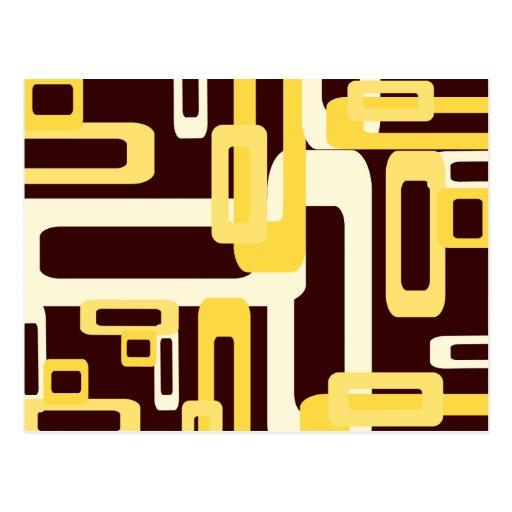 Amarillo estilizado de los rectángulos postales