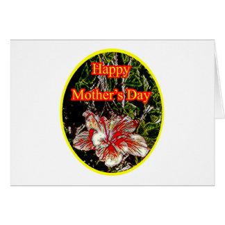 Amarillo feliz del día de la madre o del hibisco d felicitacion