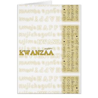 Amarillo feliz moderno de Kwanzaa Tarjeta De Felicitación