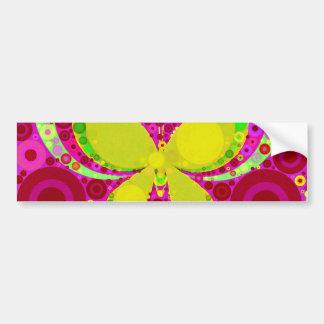Amarillo femenino colorido del rosa del mosaico de pegatina de parachoque