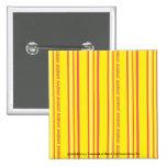 Amarillo fino de las rayas pin cuadrada 5 cm
