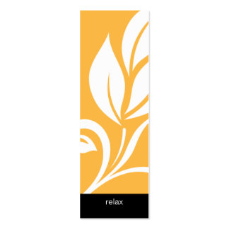 Amarillo floral de la flor de la hoja intrépida de tarjetas de visita