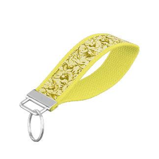 Amarillo floral del girasol del vintage llavero de pulsera
