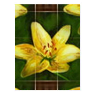 amarillo flower postcard