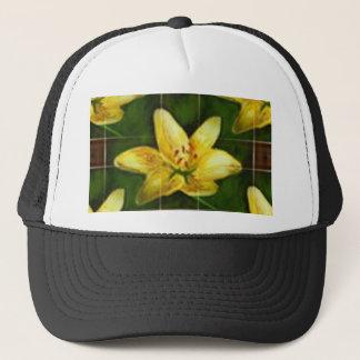 amarillo flower trucker hat