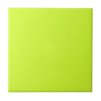Amarillo fluorescente tejas