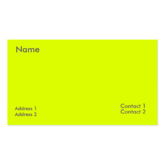 amarillo fluorescente tarjetas de visita