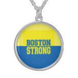 Amarillo fuerte y azul del regalo de Boston Collar De Plata Esterlina