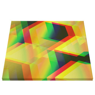 amarillo geométrico 06 impresion de lienzo