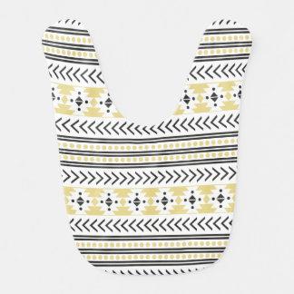 Amarillo geométrico del modelo de la impresión babero para bebé
