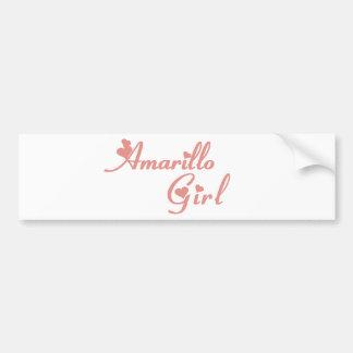Amarillo Girl tee shirts Car Bumper Sticker