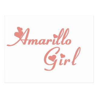 Amarillo Girl tee shirts Postcard