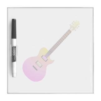 amarillo gradient.png del rosa de la guitarra eléc pizarra