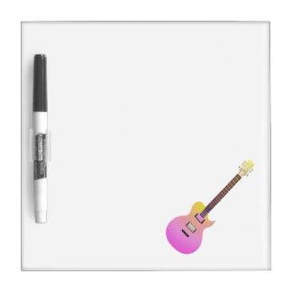 amarillo gradient.png del rosa de la guitarra eléc pizarras blancas de calidad