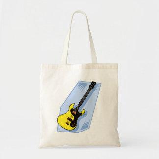 Amarillo gráfico bajo eléctrico con la parte poste bolsa tela barata