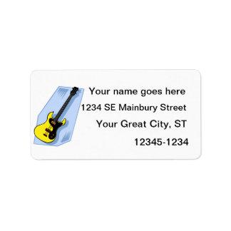 Amarillo gráfico bajo eléctrico con la parte poste etiqueta de dirección