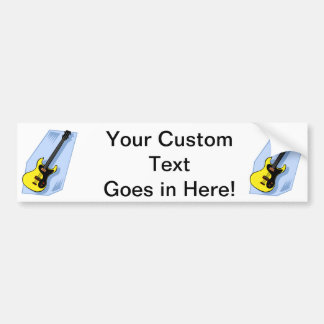 Amarillo gráfico bajo eléctrico con la parte poste pegatina para auto