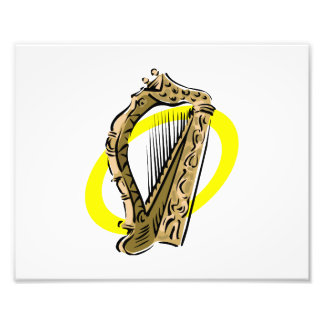Amarillo gráfico ring png de la arpa adornada fotos