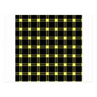 Amarillo grande del Cuadrado-Unmellow de tres Tarjeta Postal