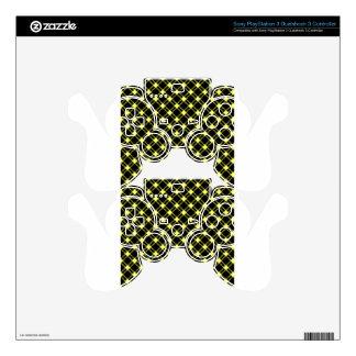 Amarillo grande del Diamante-Unmellow de tres Mando PS3 Skin