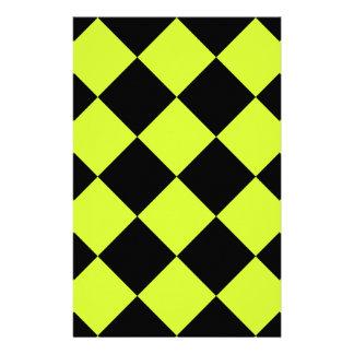 Amarillo Grande-Negro de Diag y fluorescente a Papelería