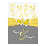 Amarillo, gris, el casarse unido blanco de los cor comunicado personalizado