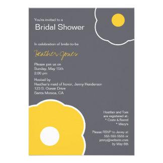 Amarillo/gris nupciales florales modernos de la in comunicados personales