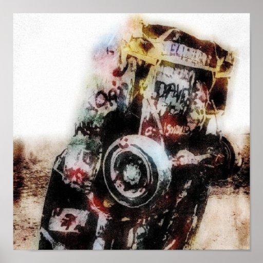 Amarillo Grunge Canvas Print