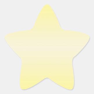 Amarillo horizontal 2 - amarillo de la vainilla y pegatina en forma de estrella