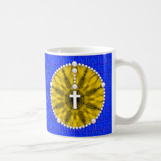 Amarillo ideal del colector del rosario taza