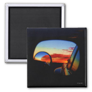Amarillo in My Rearview 2 Inch Square Magnet