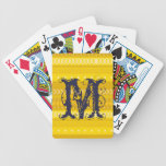 Amarillo intrépido y oro tribales baraja de cartas