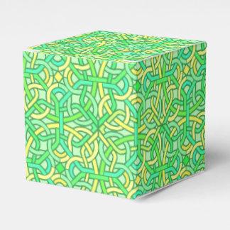 Amarillo irlandés del verde del modelo de la cajas para regalos