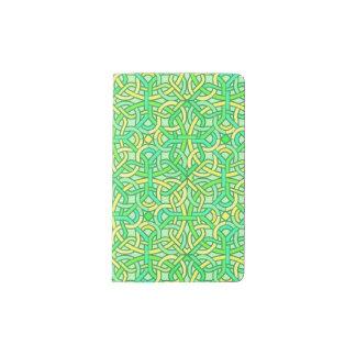 Amarillo irlandés del verde del modelo de la funda para libreta y libreta pequeña moleskine