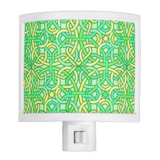 Amarillo irlandés del verde del modelo de la lámpara de noche