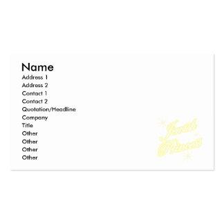 Amarillo judío de la princesa plantilla de tarjeta de negocio