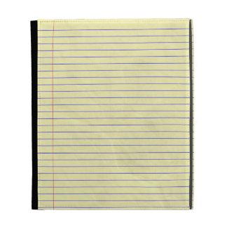 Amarillo legal del cojín del cuaderno