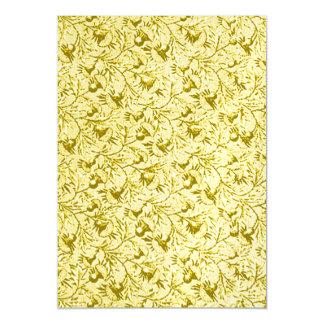 Amarillo limón floral del vintage invitaciones magnéticas