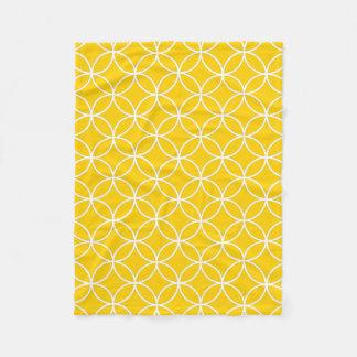 Amarillo limón manta de forro polar