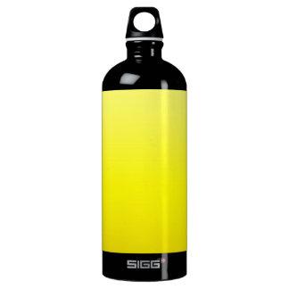 Amarillo limón se descolora la botella de agua del