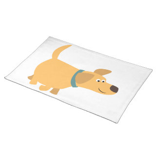 Amarillo lindo Labrador Placemat del dibujo Manteles Individuales