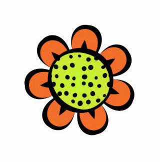 Amarillo lindo y naranja del imán de la flor imán fotoescultura