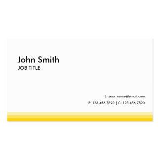 Amarillo llano profesional moderno tarjetas de visita