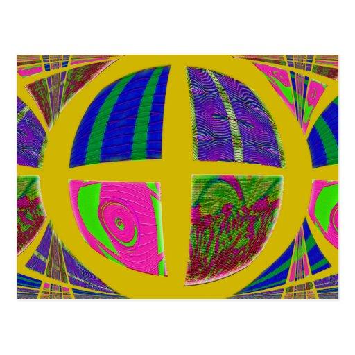 amarillo loco tarjeta postal