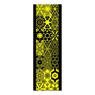Amarillo mareado del merengue del pattern_lemon de plantilla de tarjeta de visita