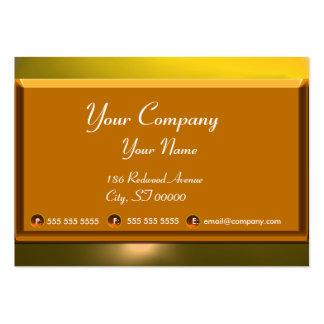 Amarillo marrón blanco del monograma del TOPAZ de Tarjetas De Visita Grandes