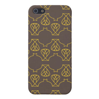 Amarillo marrón de Avante Garde iPhone 5 Protector