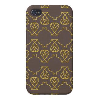 Amarillo marrón de Avante Garde iPhone 4 Carcasas