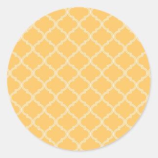 Amarillo marroquí del modelo el | pegatinas redondas