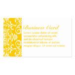 Amarillo + Modelo de encargo del damasco del color Tarjeta Personal